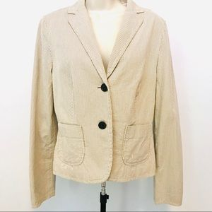 GAP Sear Sucker Blazer Jacket
